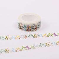 BP 2 PCS 1.5cmX10m Herbaceous Plant Washi Tape DIY Decoration Adhesive Tape Scrapbooking Masking Tape Label Sticker for