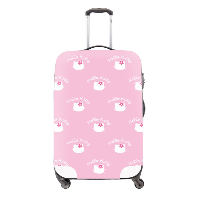 682cfe58ba4b Cute Hello Kitty Cartoon Travel Luggage Cover Apply For 18-30 Inch Suitcase  Elastic Luggage Protective Cover Travel Accessories