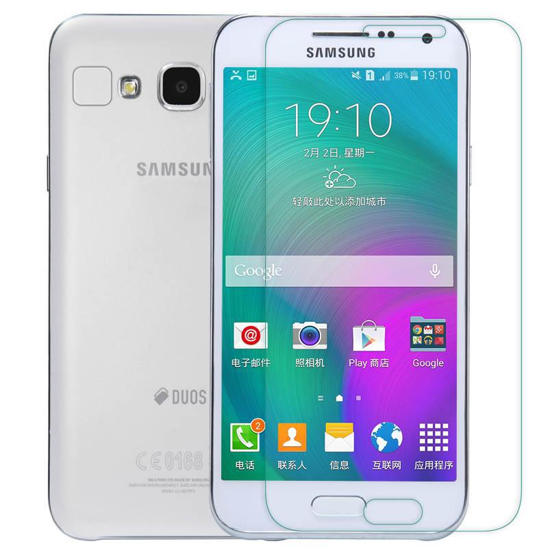 0 3mm Tempered Glass Film for Samsung Galaxy E7 E700 e 7 2 5D Arc Edge 9H Hard Glass With Clean Tools in Phone Screen Protectors from Cellphones Telecommunications