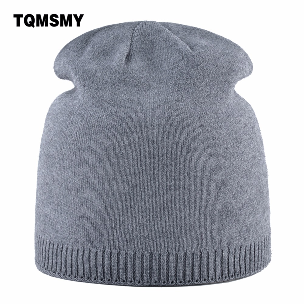 TQMSMY Winter Hat For Women   Skullies     Beanies   Solid color Double Knitting Hat Ladies Warm Cap Women's   Skullies     Beanie   Hats TMD34
