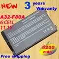 Bateria do portátil Para ASUS F8 F80 F80H F80A F80S F80Q F80L F80M F81 F81SE X82SE F83 F50S X61 X61W X61S x61GX X61SL X61Z X61SL X61Z