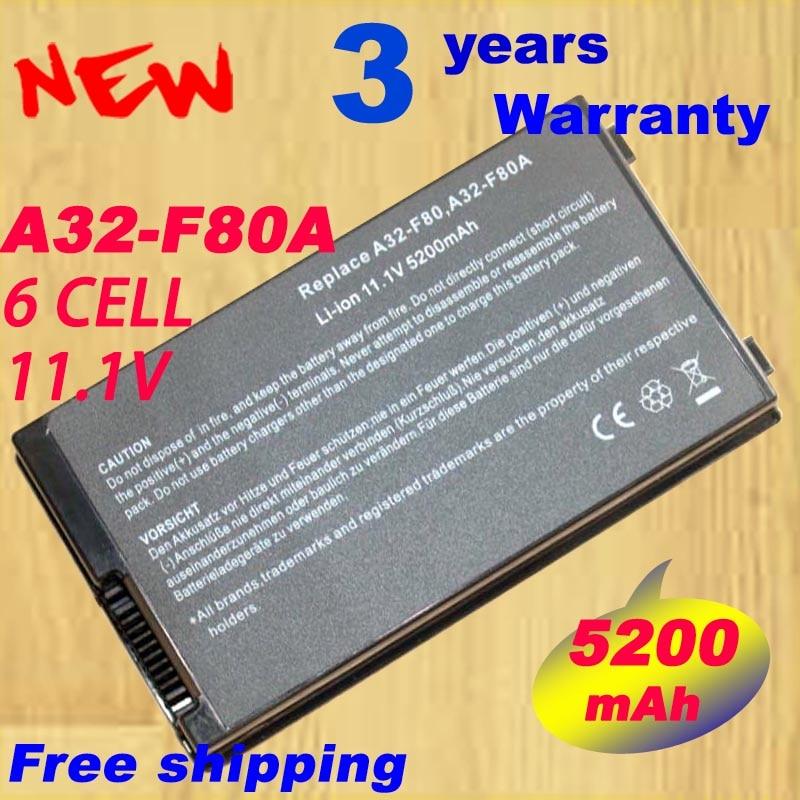 Batterie d'ordinateur portable Pour ASUS F8 F80 F80H F80A F80S F80Q F80L F80M F81 F81SE X82SE F83 F50S X61 X61W X61S X61GX X61SL X61Z X61SL X61Z