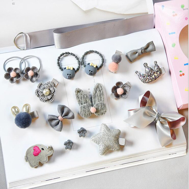 18 Pcs/Set Baby Hair Clips Haarband Bows Baby Girl Hair Accessories Headband