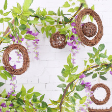 Christmas Dried Rattan Wreath Retro Natural Garland  Xmas Home Wall Decor KM88