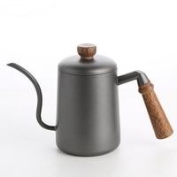 Wooden handle coffee maker stainless steel drip coffee pot Teapots Teaware