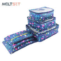 6pcs/set Travel Bag Organizer Storage Bags Clothes/Tidy/Pouch/Suitcase Packing Storage Bag Portable Luggage Organizer