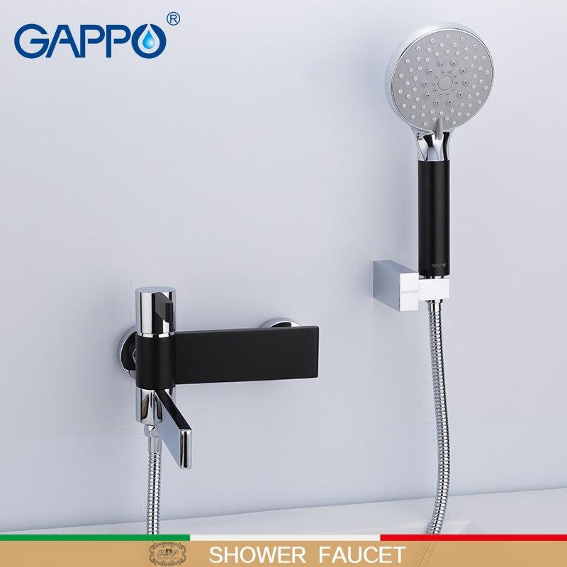 Grifos de bañera GAPPO, grifos mezcladores para baño, cascada, bañera, grifo mezclador montado en la pared, grifo de baño de lluvia