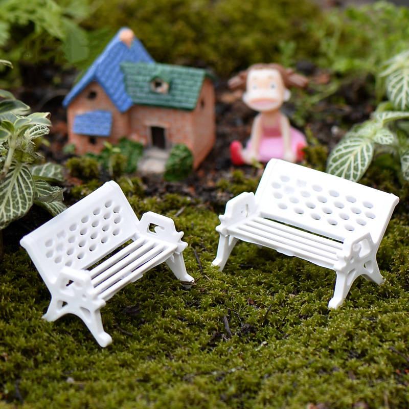 3pcs Dollhouse Miniature Furniture Chair Couple Bench Dolls House Accessories Home