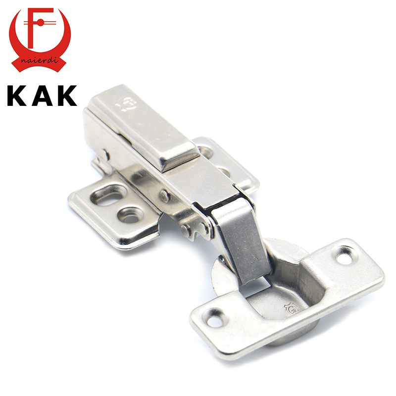 KAK Hinge Rustless Iron Hydraulic Hinge Iron Core Damper Buffer Cabinet Cupboard Door Hinges Soft Close Furniture Hardware stainless steel door hinges hydraulic buffer automatic closing door spring hinge 125 78mm furniture cabinet drawer hardware