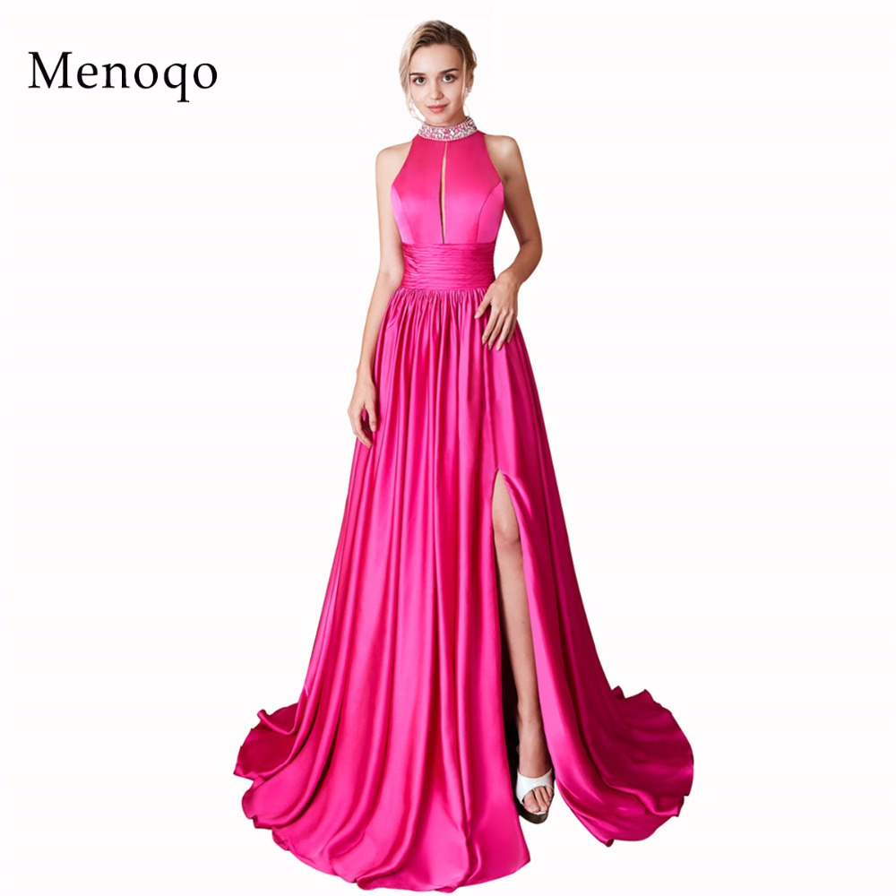 Real Photos New Arrivals Luxury Elegant Long A Line Evening Dresses Side Slit Party Gowns Formal
