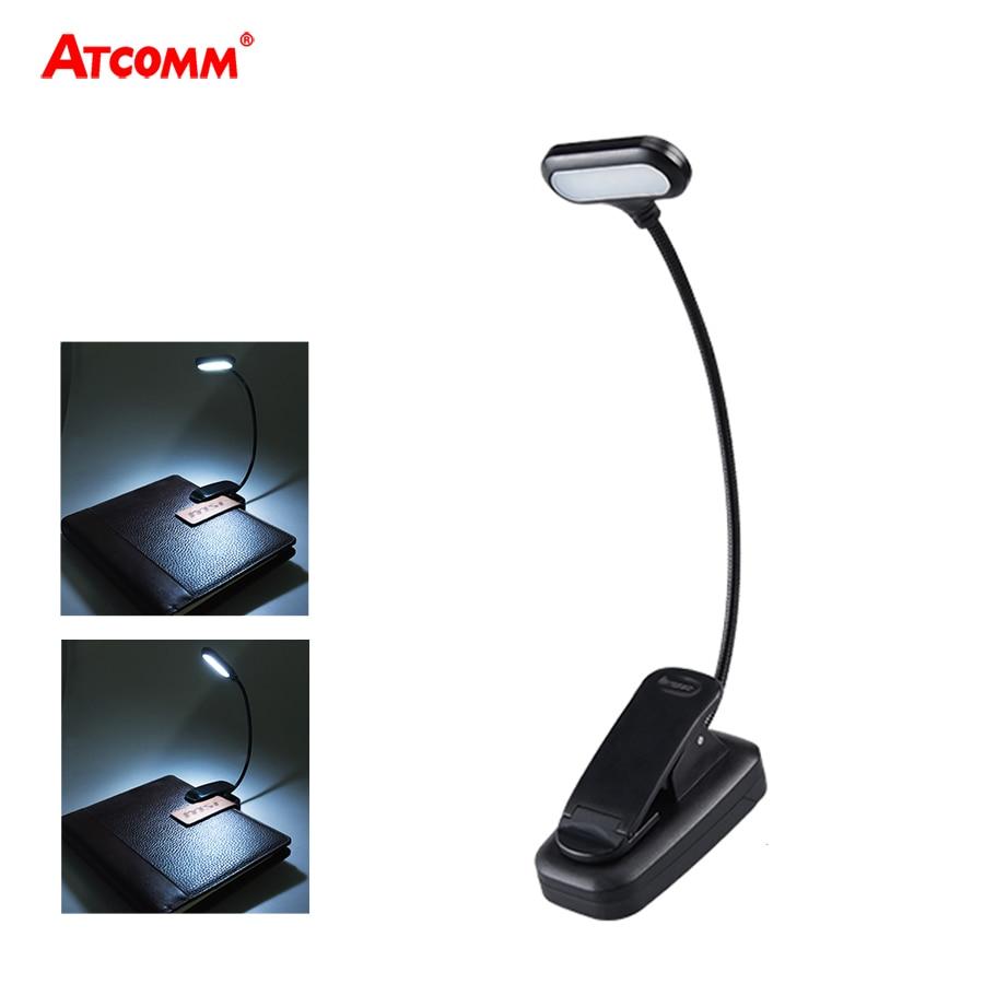 Ajustável LED Livro Luz Com Clip 5 Goosenecks LEDs AAA Alimentado Por Bateria Flexível Leitura Da Noite Lâmpada de Mesa Notebook Cool White
