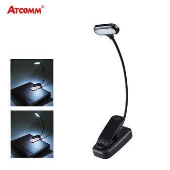 Регулируемый светодиодный светильник для книг с прищепкой Goosenecks, 5 светодиодных ламп AAA на аккумуляторах, Гибкая Настольная лампа для чтени...
