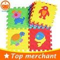 10 PCS Puzzle de Espuma Mat Piso Tapetes de Jogo De Espuma Para Crianças EVA Tapetes Tapetes E Carpetes Tapetes Criança Transporte de Animais PX11
