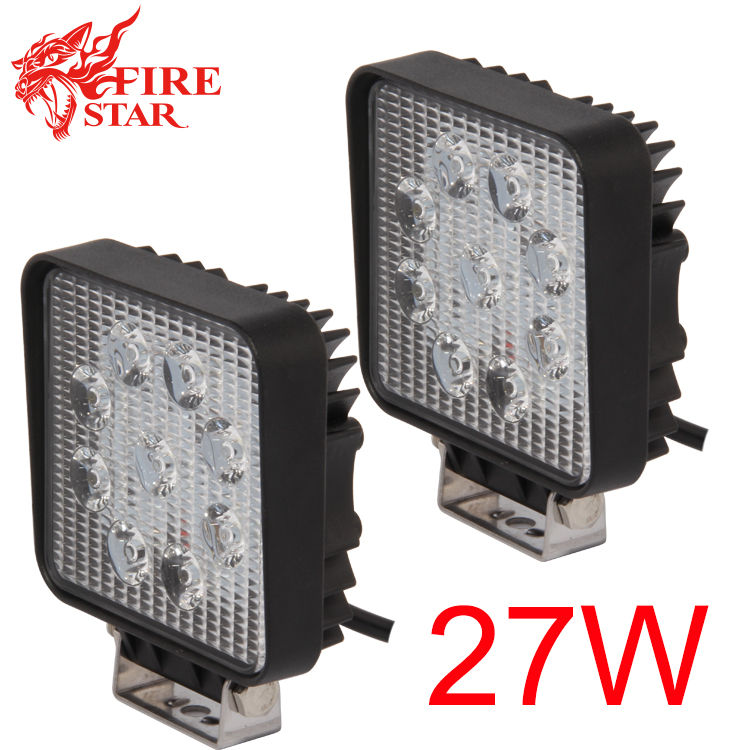 ФОТО FOXSTAR 2 Pcs  27W 4 inch 4x4 Off-road Led Work Light offroad light bar for Truck Boat ATV SUV Spot Beam 2150Lm IP67 Universal
