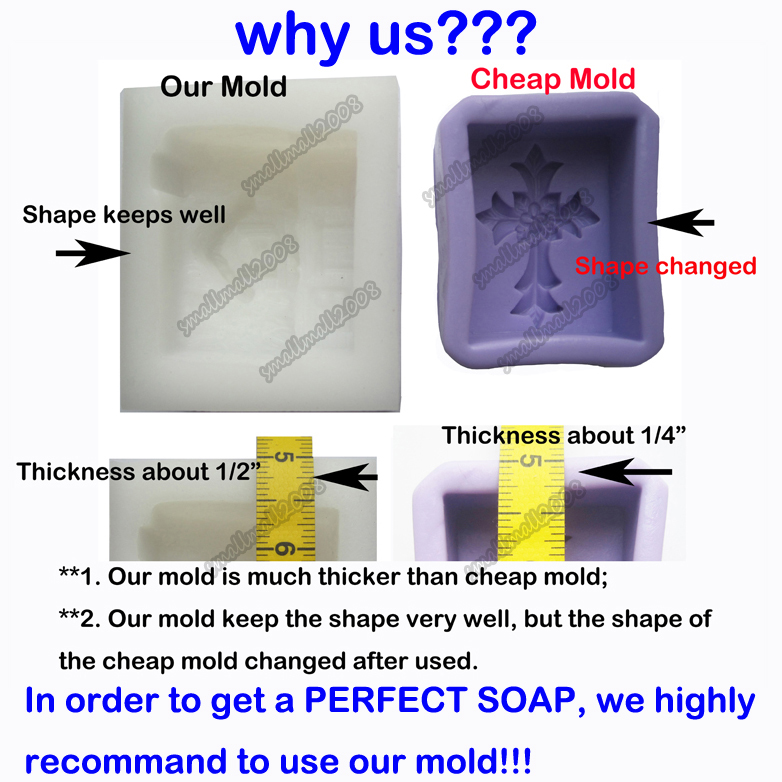 Silicone Soap Candle Mold Soap Making Mould DIY Handmade Molds Flower Angle