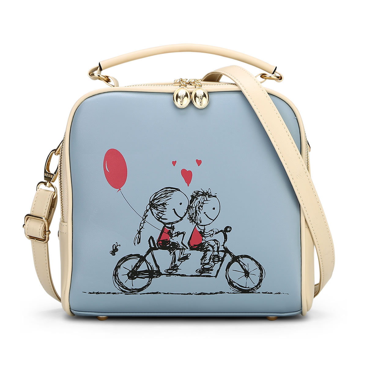6 colors summers cartoon candy color women bag school Bicycle girl s shoulder bags small messenger