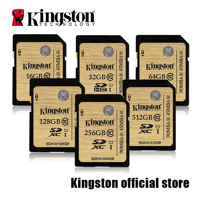 Kingston SDHC SDXC Class 10 UHS I Card SDA10 16GB 32GB 64GB 128GB 256GB 512GB