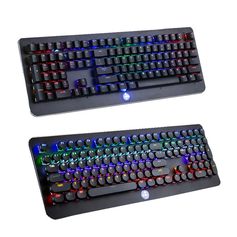цена на Full-Key Conflict-Free Gaming Keyboard For Eat Chicken Jedi Survival LoL Internet Game Green Axis 108-Key Mechanical Keyboard
