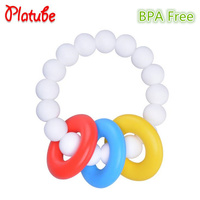 Baby Teether Gum Bracelet Silicone Bead Gym Toys Para Dental Cavity Care Toothbrush Training Silicone Teethers