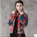 Nacional de Viento de Las Mujeres T-camisa de la chaqueta corta mujer primavera y otoño de manga larga de impresión de lino de algodón juego de La Espiga de las mujeres