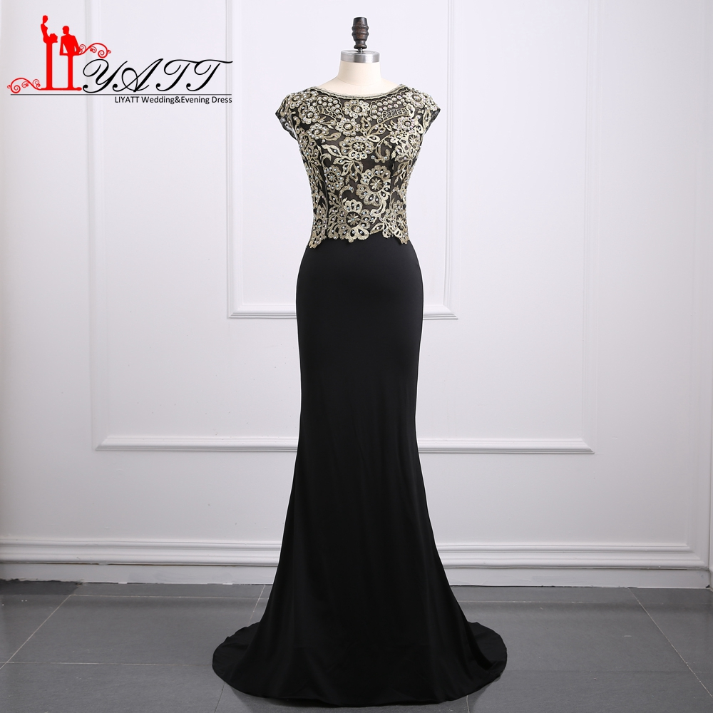 Vintage Mermaid Long Mother of the Bride Dress Gold Lace Top Stretched Satin Sweep Train Women Formal Evening Party Gown