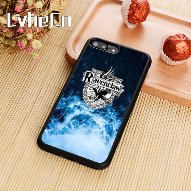 pretty nice eb7c8 bc141 US $3.18 20% OFF|LvheCn Harry Potter Ravenclaw Phone Case Cover For iPhone  4 5s 6 6s 7 8 plus 10 X Samsung Galaxy S6 S7 edge S8 S9 plus note 8-in ...