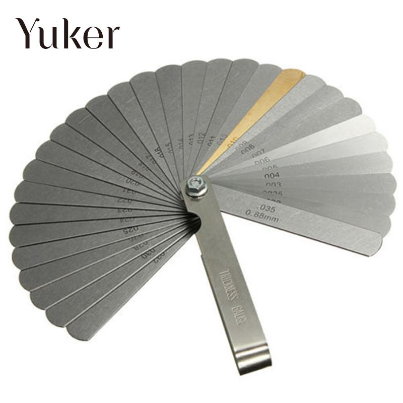 Yuker Hot High quality 2481 Guitar Feeler Gauge Tune Up Gap Thickness Set 32 size Blade IMP/METRIC +BRASS энциклопедия dvd yoga tune up