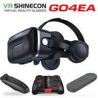 2019 original vr shinecon 7.0 fone de ouvido versão atualização óculos realidade virtual 3d vr óculos fone de ouvido capacetes caixa jogo