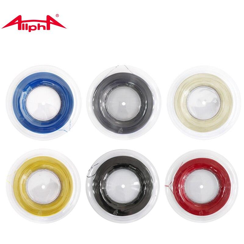 Allpha 1.25mm hexagone raquette de Tennis chaîne 200 m bobine Polyester rotatif Spin contrôle entraînement chaîne X200