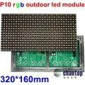 Высокая яркость P10 Открытый Полноцветный 320*160 мм Водонепроницаемый rgb СВЕТОДИОДНЫЙ баннер экран модуль DIP 1/4 сканирования hub12 порт 16*8 пикселей