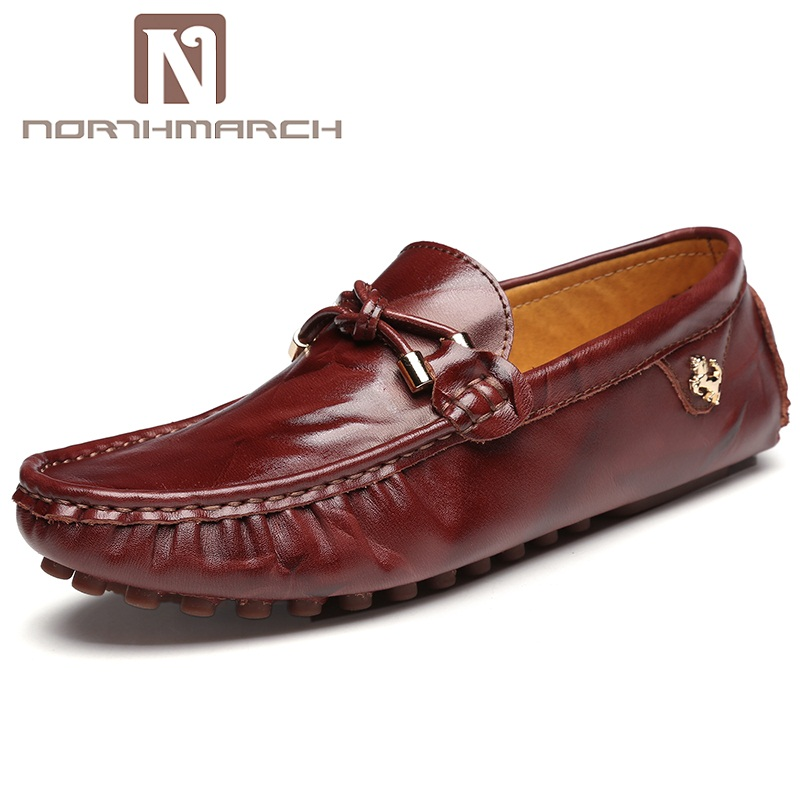NORTHMARCH Men Leather Casual Shoes Loafers Fashion Men Shoes Moccasins Chaussures Flats Male Breathable Driving Shoes Schoenen northmarch classic spring summer moccasins men loafers shoes male flats genuine leather casual driving shoes mens footwear