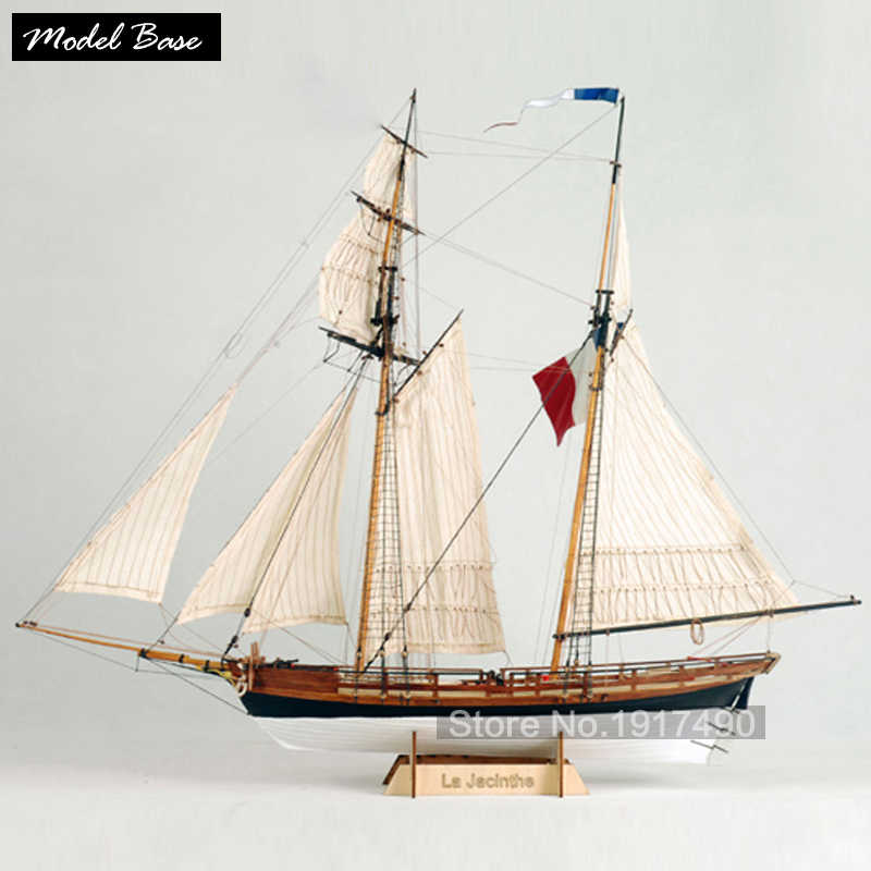 Wooden Ship Models Kits Train Hobby Diy Model Scale 1/65 Model Boats Wooden 3d Laser Cut La Jacinthe French Armed Merchant Ships