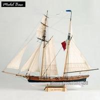 Деревянный корабль модели Наборы хобби поезд DIY Модель Весы 1/65 модель лодки деревянные 3d лазерная резка LA иакинф французский вооруженных то