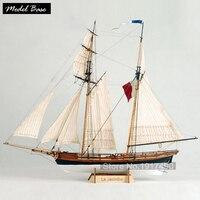 ערכות מודלים ספינת עץ רכבת תחביב מודל Diy מודל בקנה מידה 1/65 סירות עץ 3d Cut הלייזר La Jacinthe צרפתית חמוש ספינות סוחר