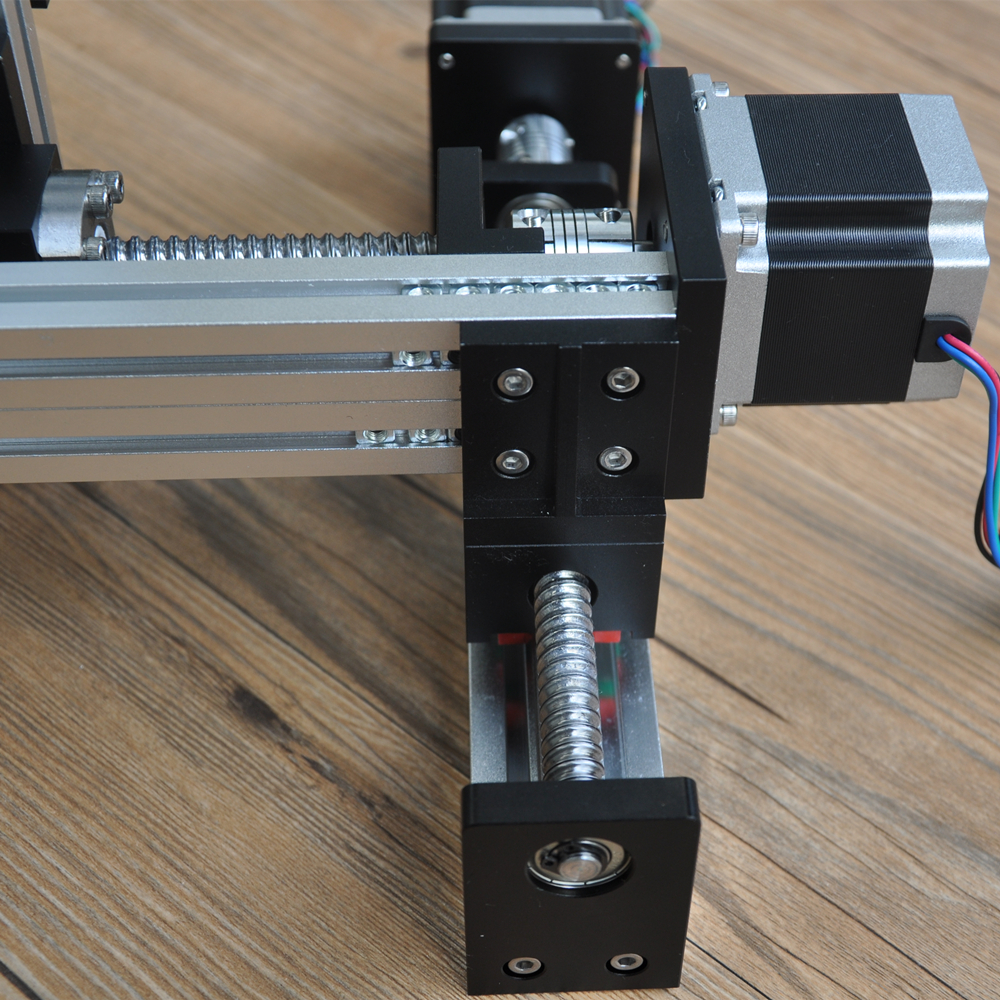 Free shipping CNC screw drive XYZ linear stage table slide motion system for laser cut 500*500*500mm stroke