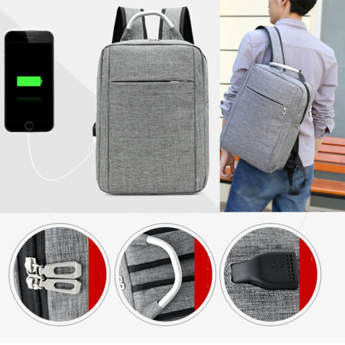 Anti-theft Men Womens USB Charging Backpack Laptop Notebook Travel Multifunctional Business Waterproof Oxford Satchel School Bag