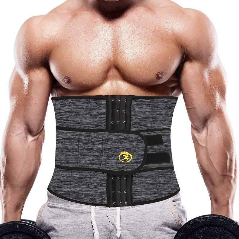 NINGMI Mens Slimming Underwear Waist Trainer Gym Shirt Weight Loss ...
