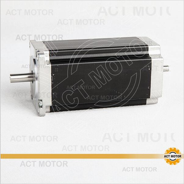 ACT Motor 1PC Nema23 Stepper Motor 23HS2442B Dual Shaft 4-Lead 425oz-in 112mm 4.2A Bipolar CE ISO ROHS CNC Router Laser Plasma act motor 1pc nema34 stepper motor 34hs9820b 890oz in 98mm 2a 8 lead dual shaft ce iso rohs cnc router laser plasma engraving