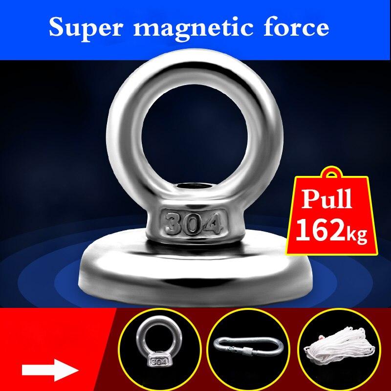 NdFeB super leistungsstarke magnet magnetic king große hochfeste rund anhänger mit loch kleine haken salvage magnet