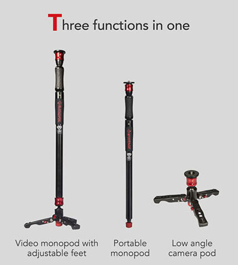 IFOOTAGE COBRA 2 STRIKE A150S aluminium alloy Professional DSLR Video Camera Monopod Lightweight Durable Portable aluminium alloy professional camera tripod flexible dslr video monopod for photography with head suitable for 65mm bowl size