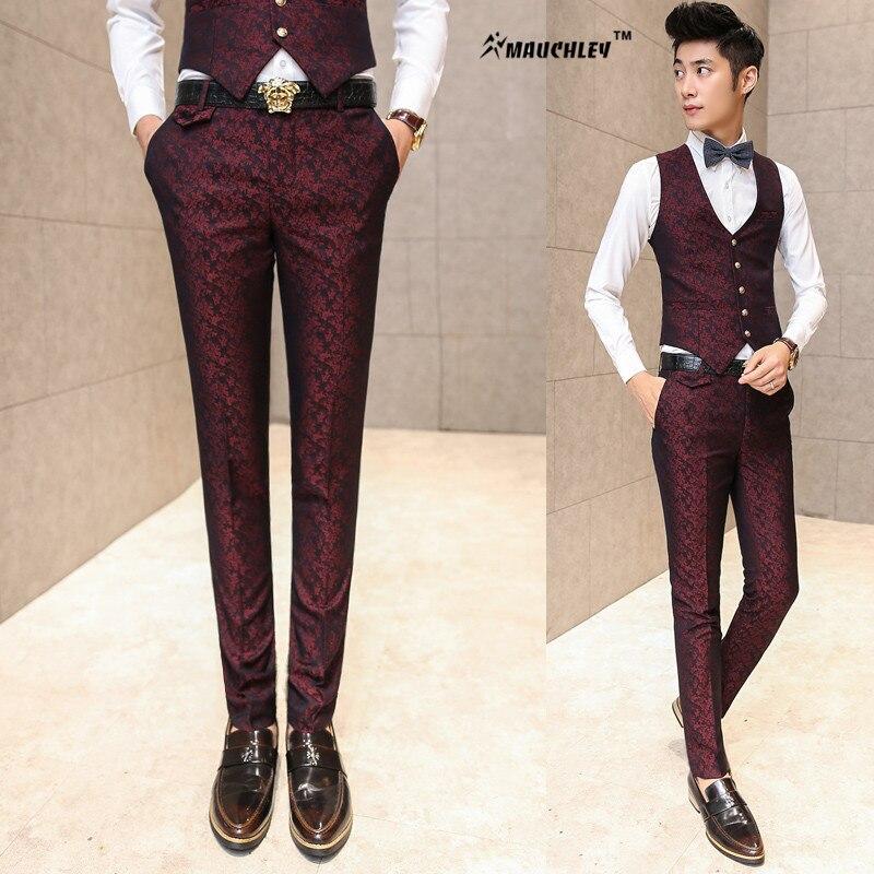 Formelle Hosen für Männer Hochzeit Prom Mens Dress Pants Slim Fit - Herrenbekleidung - Foto 2