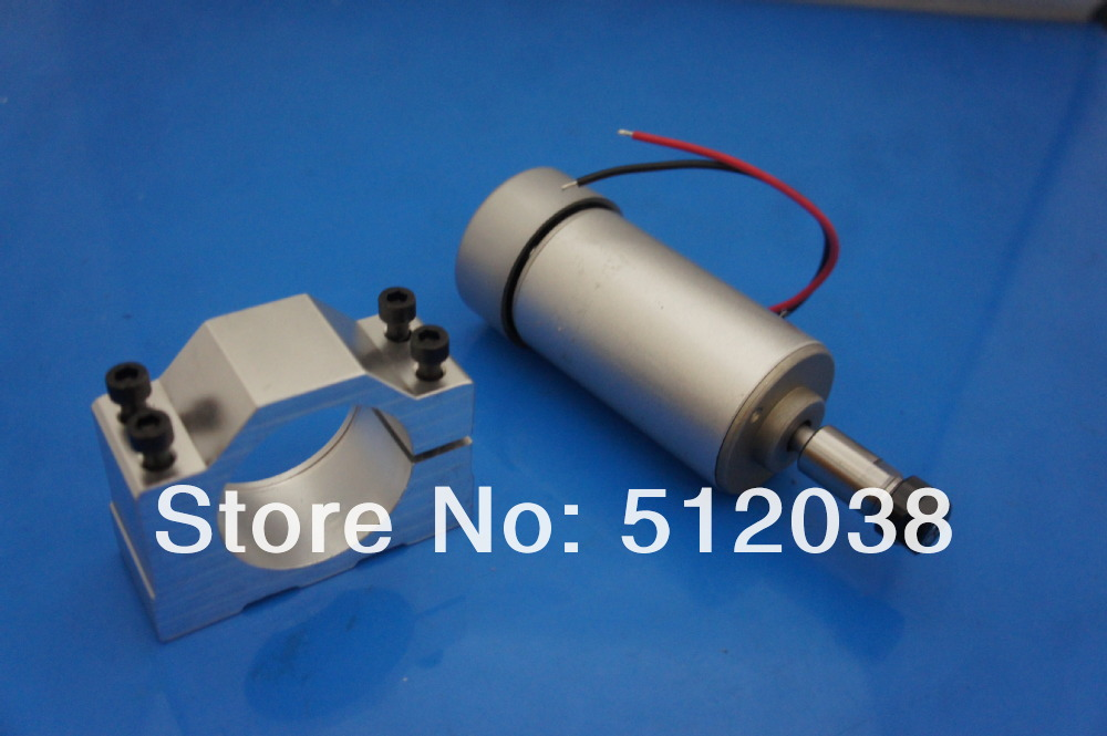 CNC 300W air cooled Spindle Motor (12-48V DC ER11 collect ) with Mount bracket For Engraving Carving MILLING GRINDING Machine new 1 5kw air cooled spindle motor kit cnc spindle motor 220v 1 5kw inverter square milling machine spindle free 13pcs er11