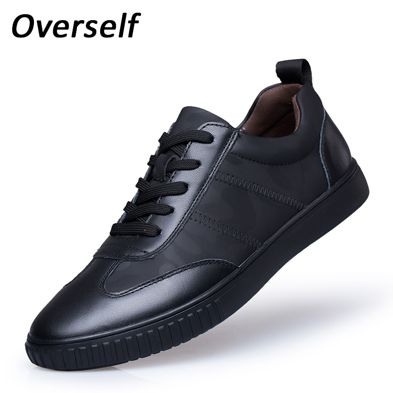 Spring Men's Casual Shoes Genuine Leather Loafers Breathable Lace Up Sneakers For Men Fashion Brand Black White Flats Homme men 2017 spring summer fashion shoes lace up low breathable male flats casual shoes students loafers white khaki shoe hot sale