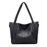 Woman Handbag Bigs Bags Casual PU Leather Women Crossbody Bag Large Capacity Solid Color Female Shoulder Bags