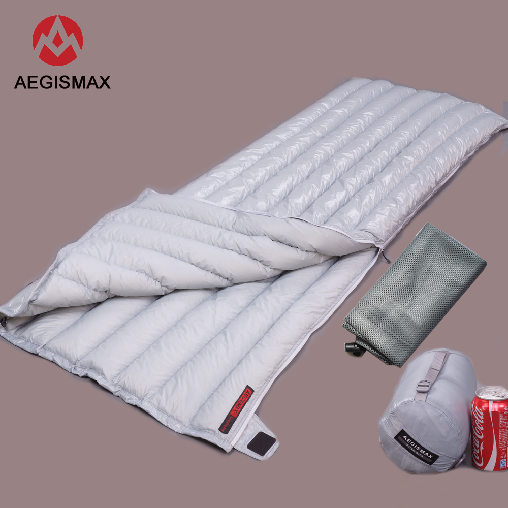 Aegismax Ultralight Lengthened Envelope Sleeping Bag White Goose Down Outdoor Camping Sewn Through Black&gray 200x80cm 190x72cmAegismax Ultralight Lengthened Envelope Sleeping Bag White Goose Down Outdoor Camping Sewn Through Black&gray 200x80cm 190x72cm