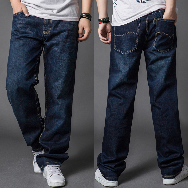 Autumn thick plus size plus size jeans pants male thick legs fat plus size straight denim