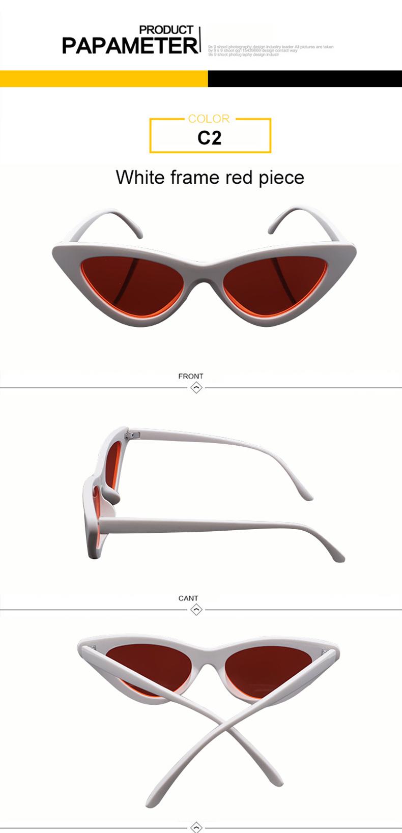 HTB1Y85KjqagSKJjy0Fgq6ARqFXa8 - WHO CUTIE 2018 Brand Designer Black Cat Eye Sunglasses Women Cool Small Cateye Frame Sun Glasses Fashion UV400 Shades WG-008