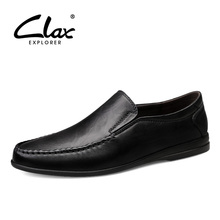 CLAX Mans Moccasins Genuine Leather Male Casual Shoes Slip on Mens Loafers Footwear Breathable