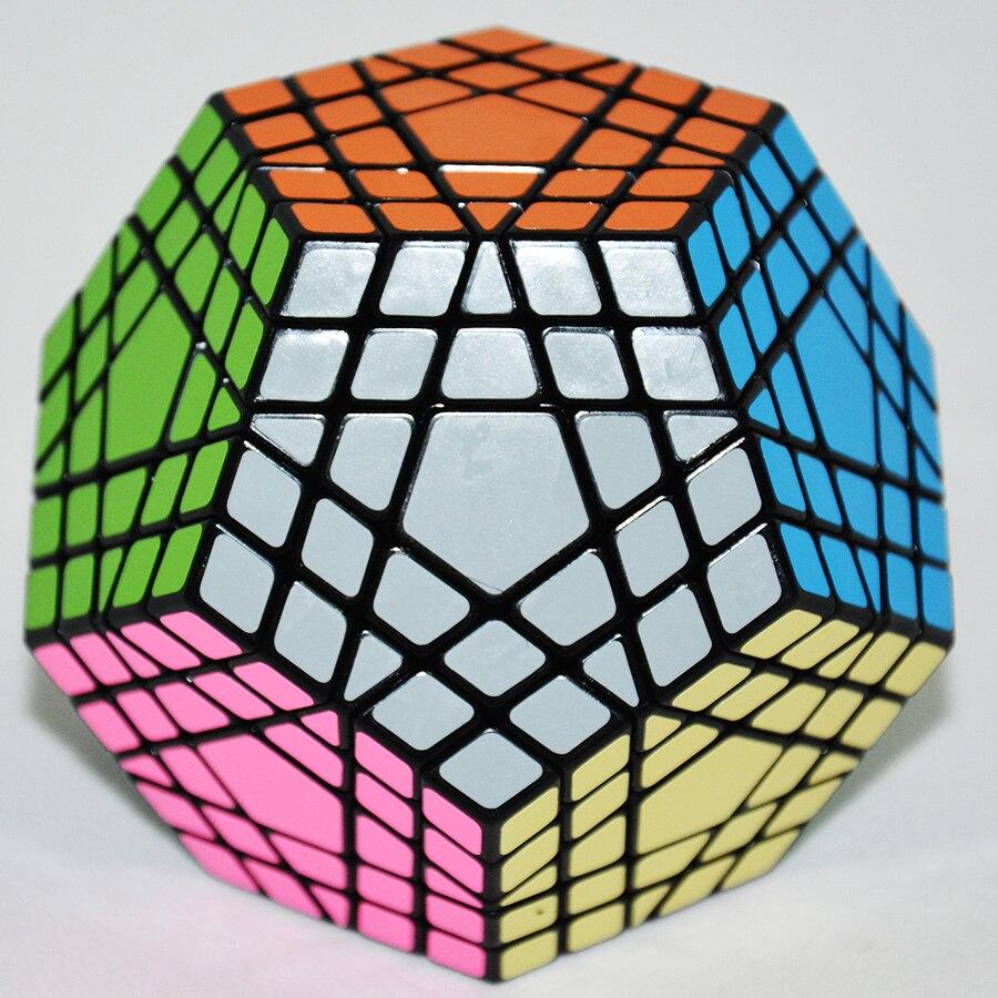 Shengshou Gigaminx Magic Cube Noir De Base avec PVC Autocollants Professionnel Magique Cube D'apprentissage jouets éducatifs - 2
