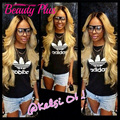 7A ombre loira cabelo brasileiro empacota 2 tom extensões de cabelo humano onda do corpo brasileiro virgem cabelo loiro mel cabelo brasileiro